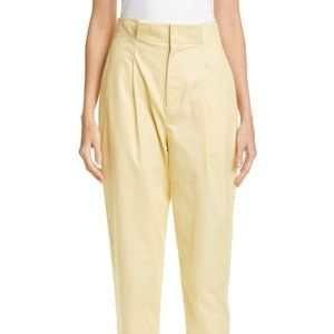 Equipment NEW pale yellow paperbag pant sz 4